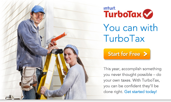 You can with TurboTax(r) This year, take your do-it-yourself attitude one step further  do your own taxes. With TurboTax, you can be confident they'll be done right. Get started today!