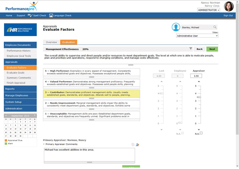 Factor Evaluation