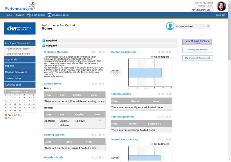 Performance Pro Dashboard