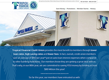 Example: Tropical Financial Microsite