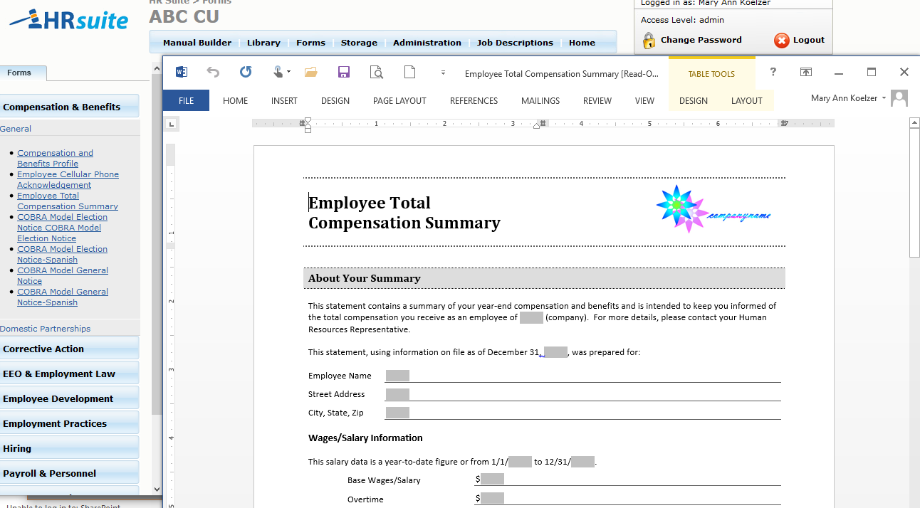 HR Suite Screenshot 2