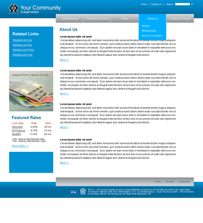 Create-a-Site Website Template Example 2